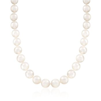 "12-14mm Cultured South Sea Pearl Necklace With 14kt Yellow Gold. 18"", , default"