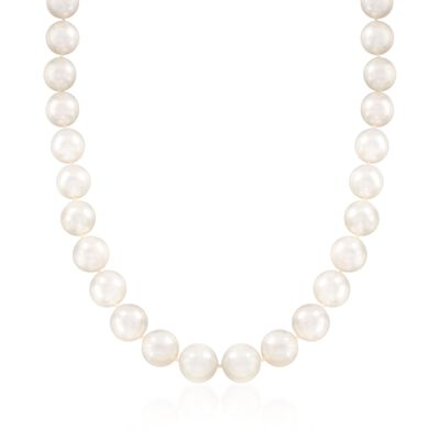 12-14mm Cultured South Sea Pearl Necklace with 14kt Yellow Gold, , default