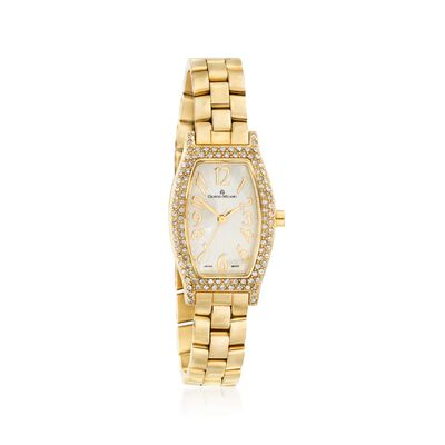 Giorgio Milano Sara Women's Gold-Plated Stainless Steel Watch with Swarovski Crystals, , default