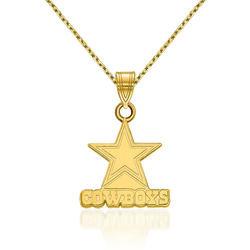 """14kt Yellow Gold NFL Dallas Cowboys Pendant Necklace. 18"""", , default"""