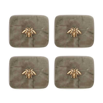 Joanna Buchanan Agate Bee Set of 4 Coasters, , default