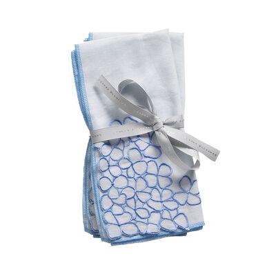 Joanna Buchanan Set of 2 Blue Hydrangea Linen Dinner Napkins, , default