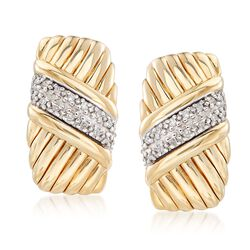 .13 ct. t.w. Diamond Sash Earrings in 14kt Yellow Gold , , default