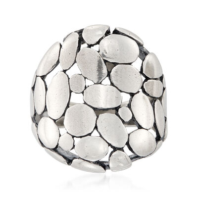 Sterling Silver Pebble-Style Ring