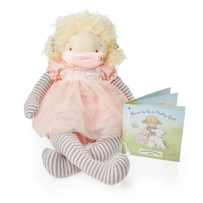 Bunnies by the Bay Elsie Girl Plush Doll and Mask Gift Set