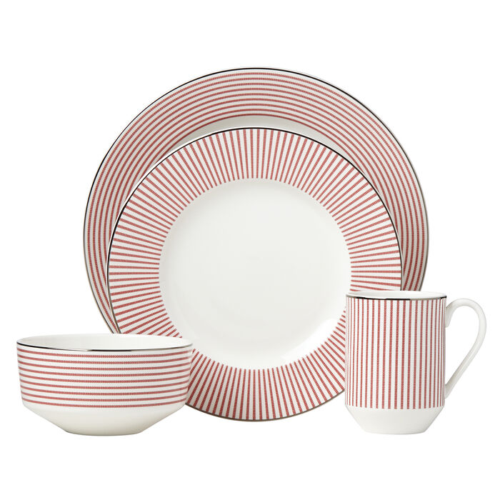 """Kate Spade New York """"Laurel Street"""" 4-pc. Red Place Setting"""