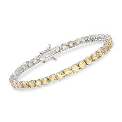 "8.25 ct. t.w. Citrine Tennis Bracelet in Sterling Silver. 7"", , default"