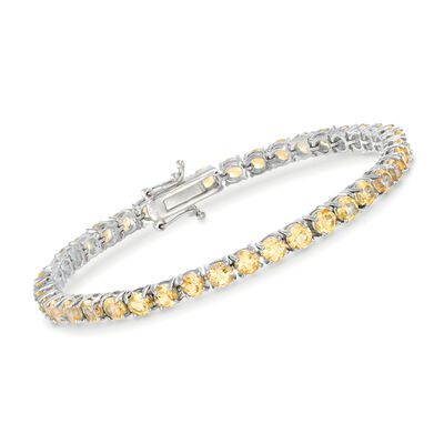 8.25 ct. t.w. Citrine Tennis Bracelet in Sterling Silver, , default