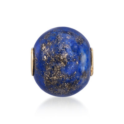 Lapis Bead Pendant with 14kt Yellow Gold, , default
