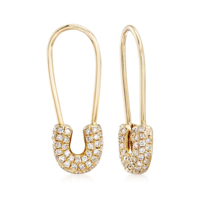 .26 ct. t.w. Diamond U-Drop Wire Earrings in 14kt Yellow Gold, , default