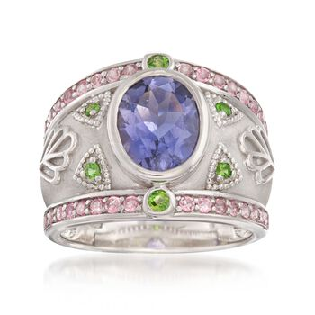 2.95 ct. t.w. Multi-Stone Patterned Ring in Sterling Silver, , default
