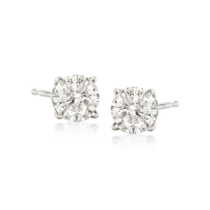 .75 ct. t.w. Diamond Stud Earrings in 14kt White Gold, , default