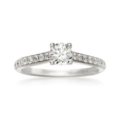 .20 ct. t.w. Diamond Engagement Ring Setting in 18kt White Gold, , default