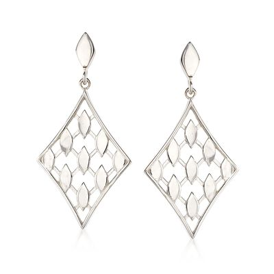 "Zina Sterling Silver ""Casablanca""  Drop Earrings"