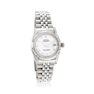 Pre-Owned Rolex Datejust Women's 31mm Automatic Stainless Steel Watch with 18kt White Gold, , default