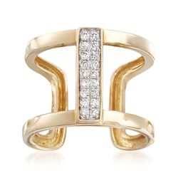 .19 ct. t.w. Pave Diamond Open-Space Cuff Ring, , default