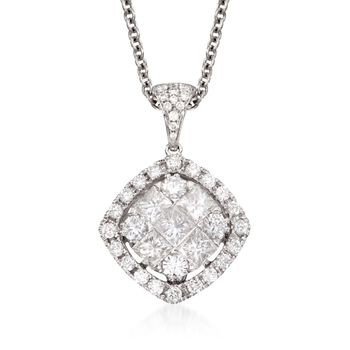 """Gregg Ruth 1.44 ct. t.w. Diamond Pendant Necklace in 18kt White Gold. 18"""", , default"""