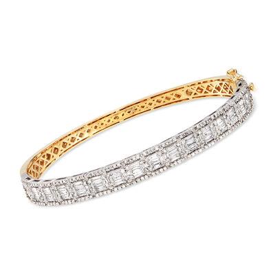 2.00 ct. t.w. Diamond Bangle Bracelet in 14kt Two-Tone Gold