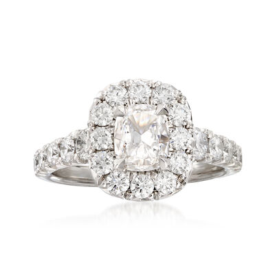Henri Daussi 1.87 ct. t.w. Diamond Engagement Ring in 18kt White Gold