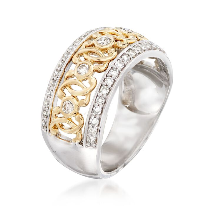 .49 ct. t.w. Diamond Swirl Ring in 14kt Two-Tone Gold