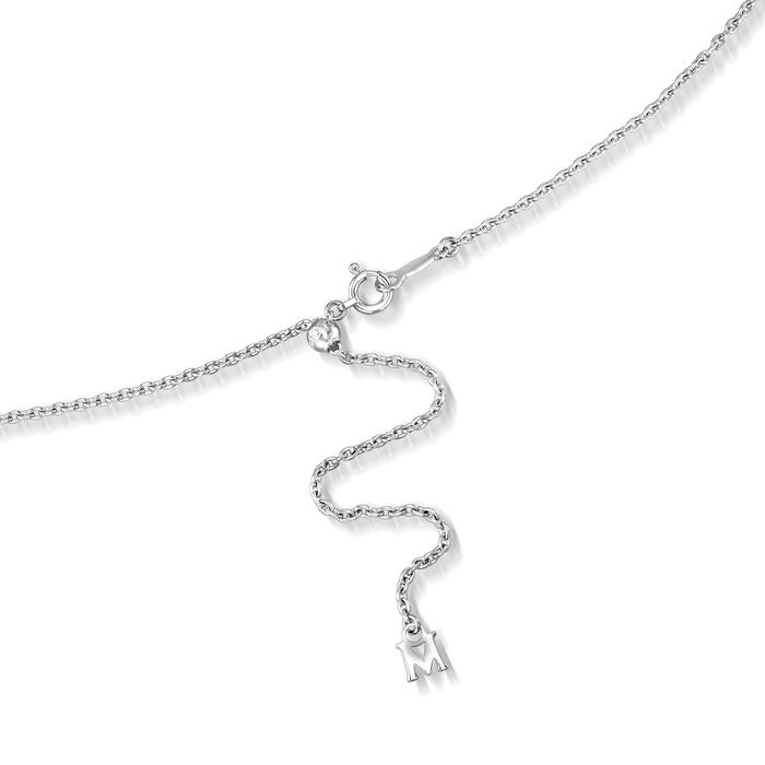 "Mikimoto ""Japan"" 7.5mm A+ Akoya Pearl Adjustable Lariat Necklace in 18kt White Gold"