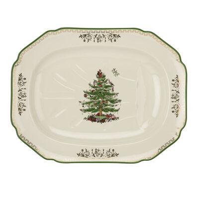 """Spode """"Christmas Tree"""" Rectangular Platter"""