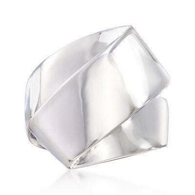 Sterling Silver Folded Ring, , default