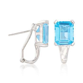 8.75 ct. t.w. Blue Topaz Earrings in Sterling Silver