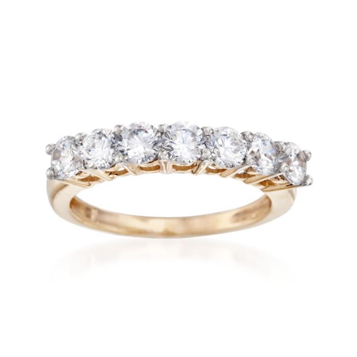 1.00 ct. t.w. CZ Seven-Stone Ring in 14kt Yellow Gold, , default