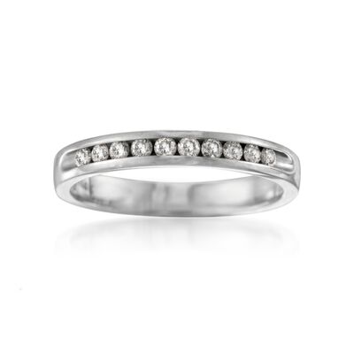 .25 ct. t.w. Diamond Wedding Ring in 14kt White Gold