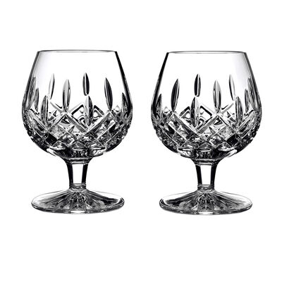 "Waterford Crystal ""Lismore"" Set of 2 Brandy Glasses, , default"