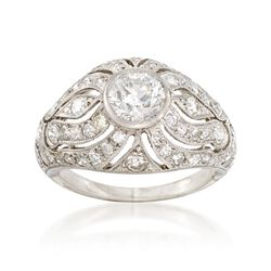 C. 1950 Vintage 1.65 ct. t.w. Diamond Dome Ring in Platinum. Size 5.5, , default