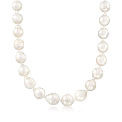 11-13mm Cultured Baroque South Sea Pearl Necklace with 14kt Gold, , default