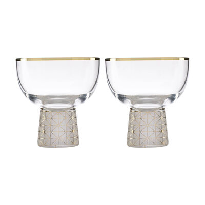 Trianna Frosted 2-Piece Cocktail Glassware Set, , default