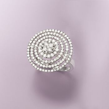 1.74 ct. t.w. Diamond Circle Ring in Sterling Silver, , default