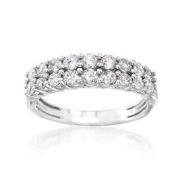 1.00 ct. t.w. Double-Row Diamond Ring in 14kt White Gold, , default