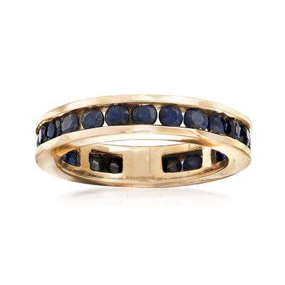 1.30 ct. t.w. Channel-Set Sapphire Eternity Band in 14kt Yellow Gold, , default