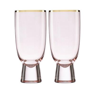Trianna Blush 2-Piece Pink Glassware Set, , default
