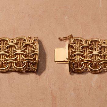 Italian 18kt Yellow Gold Modified Byzantine-Link Bracelet, , default