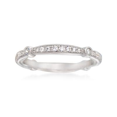Simon G. .33 ct. t.w. Diamond Wedding Ring in 18kt White Gold