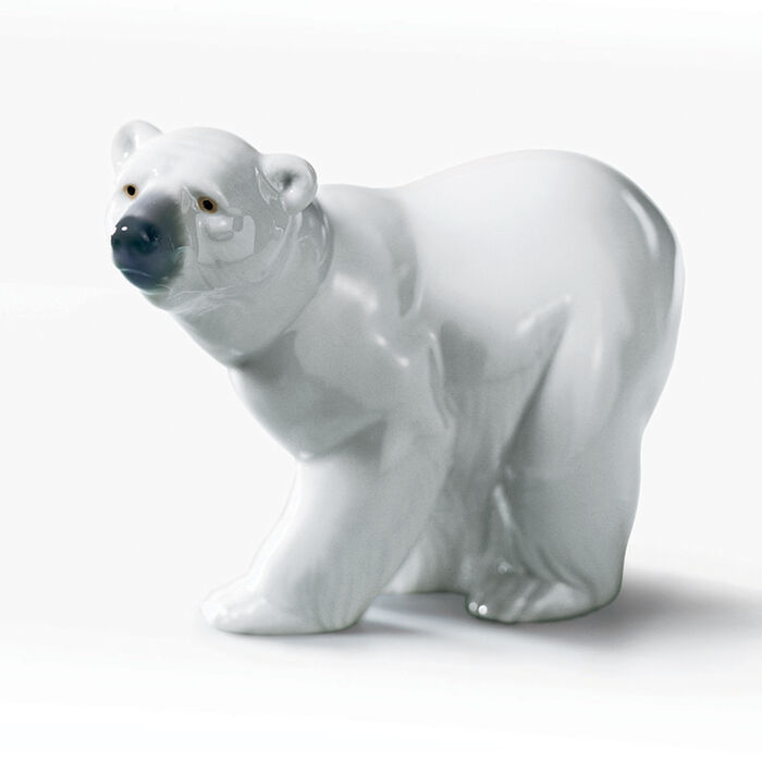 "Lladro ""Attentive Polar Bear"" Porcelain Figurine"