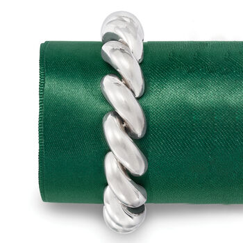 Italian Sterling Silver Large San Marco Bracelet