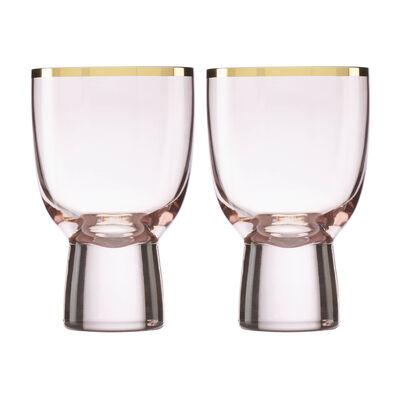Trianna Blush 2-Piece Pink Wine Glassware Set, , default