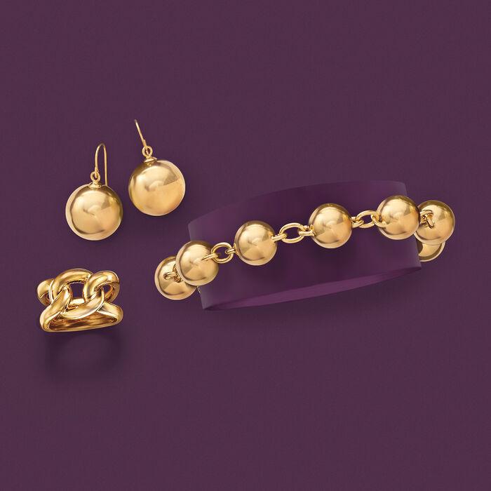 Italian Andiamo 14kt Yellow Gold Knot Ring