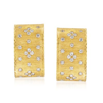 "Roberto Coin ""Princess"" .70 ct. t.w. Diamond Earrings in 18kt Yellow Gold"
