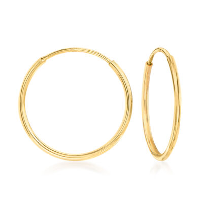 14kt Yellow Gold Endless Hoop Earrings