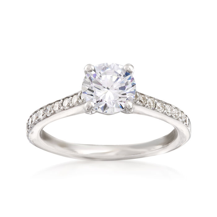 .25 ct. t.w. Diamond Engagement Ring Setting in 14kt White Gold, , default