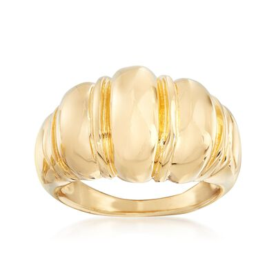 Italian 18kt Gold Over Sterling Domed Shrimp Ring, , default
