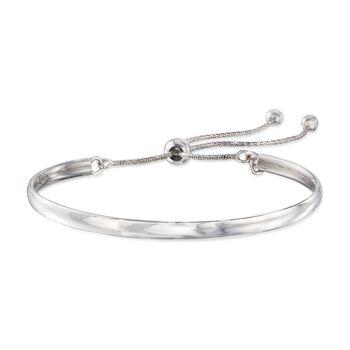 Italian Sterling Silver Bolo Cuff Bracelet, , default