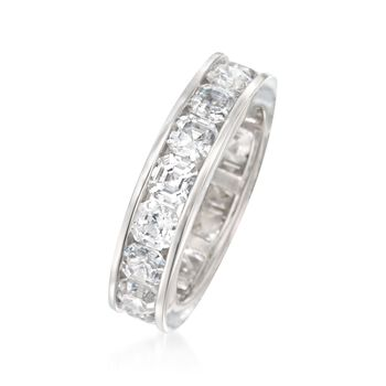 5.15 ct. t.w. CZ Eternity Band in Sterling Silver